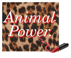 """""""animal power"""" by amorium ❤ liked on Polyvore featuring art"""