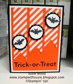 Stampin' Up!- 'Freaky Friends' and 'Frightful Wreath', along with the new Motley Monsters Designer Paper!