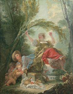 El columpio - Jean-Honoré Fragonard   Museo Thyssen