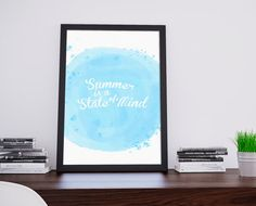Summer Qoute Blue Pastel Beach Printable by BlessLifePrints Qoutes, Blessed, Pastel, Printables, Beach, Handmade Gifts, Summer, Prints, Blue