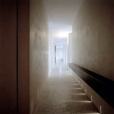 Corridor inside the P Penthouse by Claudio Silvestrin.