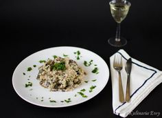 Risotto with mushrooms and truffle oil