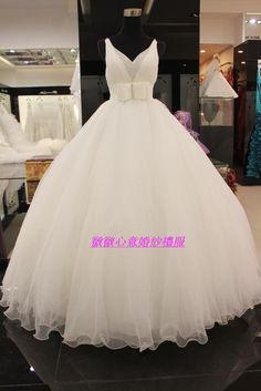 bling bling ribbon princess cinderella Wedding dress/gown on AliExpress.com. $89.00