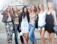 Chanel Couture's models-off-duty.