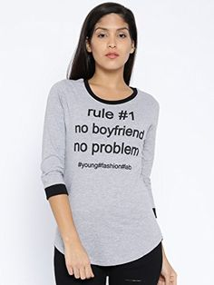 Silly People Women's Printed T-Shirt:-Grey Check more at http://www.indian-shopping.in/product/silly-people-womens-printed-t-shirt-grey/