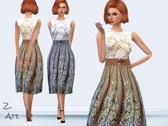 The Sims Resource: Vintage Summer dress by Zuckerschnute20 • Sims 4 Downloads