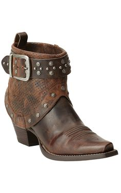 Ariat® Defiance™ Sassy Brown with Studs & Harness Western Fashion Boots