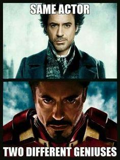 Robert Downey Jr ~ 1 Actor, 2 Different Geniuses