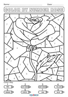 Free Fall Coloring Sheets, Spring Coloring Pages, Coloring Pages For Boys, Coloring Book Pages, Free Coloring, Kindergarten Coloring Pages, Kindergarten Colors, Preschool Colors, Activity Pages For Kids Free Printables