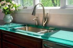 Contemporary Glass Countertops Glass Available at Delta Glass Houston, TX Specs needed to produce over all dimensions and center of over all dimensions of cut out needed.