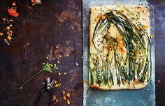Onion and wild herb flatbread recipe