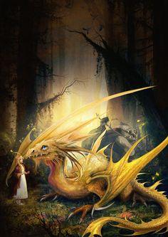 Dragon and girl, Irina Pechenkina on ArtStation at https://www.artstation.com/artwork/JWOKZ