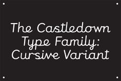 Colophon - Castledown
