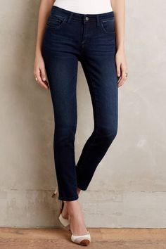 Anthropologie Womens AG Stevie Ankle Straight Ankle Blue Jeans ...