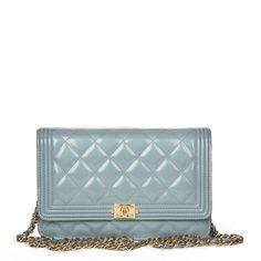 ac4acf012d9d0e Wallet on Chain patent leather handbag Chanel Woc, Chanel Wallet, Chanel  Boy Bag,