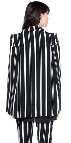 Jackets | Cape Sleeve Stripe Jacket