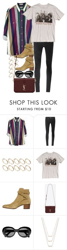 """Untitled #10385"" by nikka-phillips ❤ liked on Polyvore featuring Helmut Lang, ASOS, Chaser, Yves Saint Laurent, Acne Studios and ERTH"
