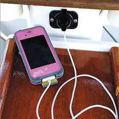 Make it easier to charge your mobile devices on board by installing a USB outlet…