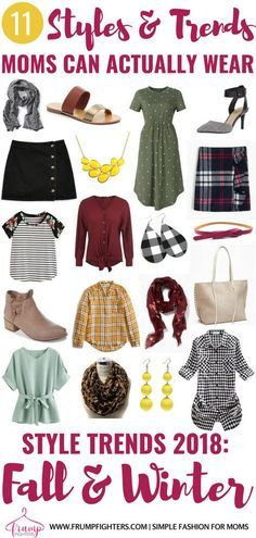 A list of all the mom-friendly fashion trends for fall & winter Trends are a simple way to spruce up your basics! Look chic & put together quickly with this mom's simple tips! Mom Outfits, Outfits For Teens, Trendy Outfits, Cute Outfits, Mom Style Fall, Mommy Style, Winter 2018 Fashion, Autumn Fashion, Women's Fashion