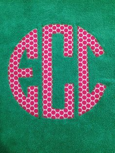 Personalized Applique Monogram Towel
