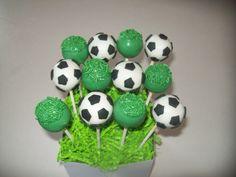 Soccer Ball Cake Pops!!!!