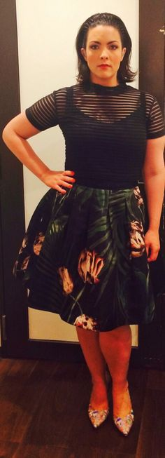 Blue Note Club Tokyo, May 19, 2015. Top: Motel, Skirt: Ted Baker, Shoes: Peter Kaiser.