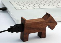 Wooden animal usb drive