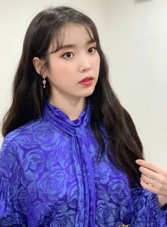 Makeup Korean Style, Korean Beauty, Iu Fashion, Korean Fashion, Iu Twitter, Queen Pictures, K Idols, Beautiful Actresses, Korean Singer