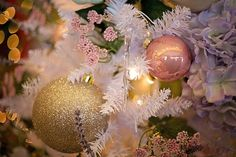 """A favorite holiday movie is """"Christmas Vacation."""" One of the most memorable scenes is the squirrel flying out of the Christmas tree. Pink Christmas Decorations, Pink Christmas Tree, Christmas Vacation, Christmas Images, Christmas Time, Christmas Bulbs, Holiday Decor, Handmade Christmas, Modern Color Schemes"""