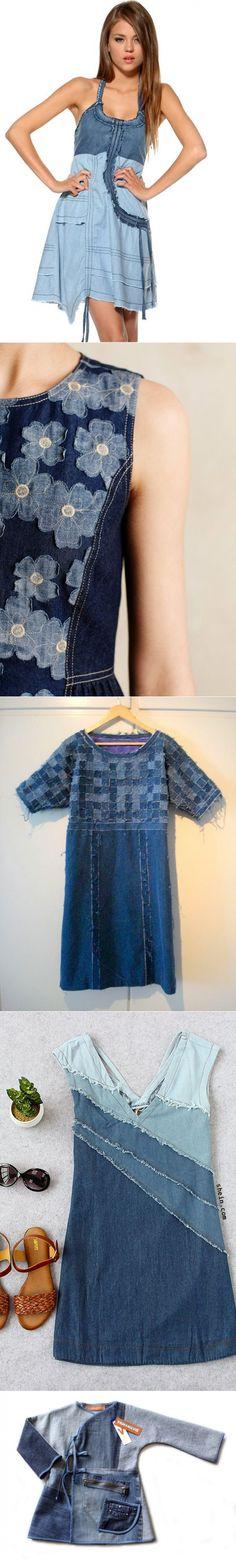 Джинсовые платья. Идеи переделок