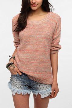 Sparkle & Fade Marl Stitch 3/4 Sleeve Sweater