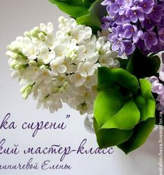 Gorgeous lilac with cold porcelain ( clay flower ) // Gyönyörű élethű orgona hideg porcelánból ( agyagvirág technika ) // Mindy - craft tutorial collection