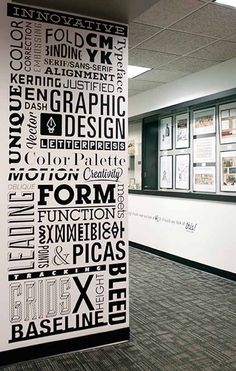 typography wall art art for the office wall