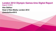 London 2012.com olympic games digital round up 13 august 2012 by Alex Balfour, via Slideshare