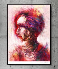 Redness - llustration art giclée print signed by the artist. 50 x 70 cm poster. Tomek Biniek. by TomekBiniek on Etsy