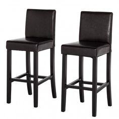 Chaise de bar Nello (lot 2) - Cuir synthétique | home24.fr