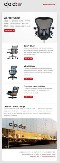 COD – Chairs HTML email marketing design