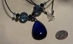 Beautiful Blue Crystal Necklace Crystal by CherylsGoodStuff, $12.00