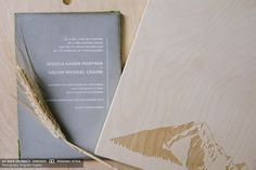 a fine press concrete wedding invitation