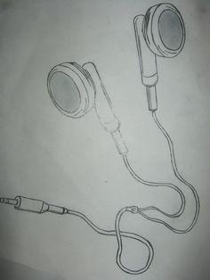 Drawing of headphones | Visual art