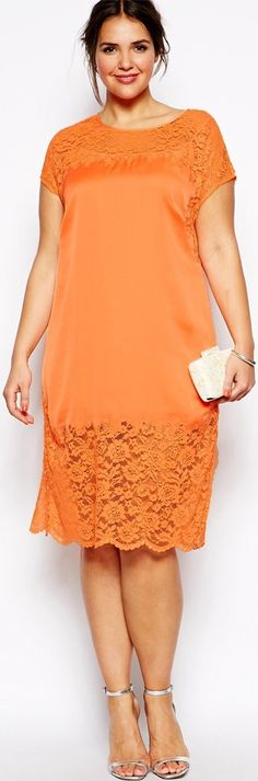 (make sure this type of dress is big enough that it doesn't pull tightly across your tummy) lace trend - http://www.boomerinas.com/2015/03/13/lace-is-still-hot-modern-ways-to-wear-lace-for-spring-summer-2015/