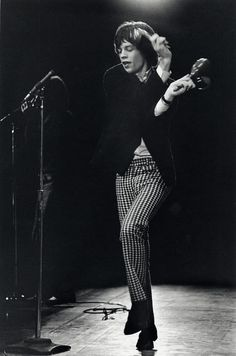 Mick Jagger in action.