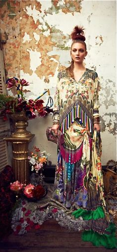Australian designer Camilla Franks' Kaftans and Dresses from Fall 2013. 'Bohemian Like You'