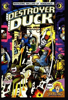 eclipse comics DESTROYER DUCK #4 Steve Gerber Jack KIRBY Anti Marvel Howard the Duck & Starling by Superman's Jerry Siegel with Val Mayerik