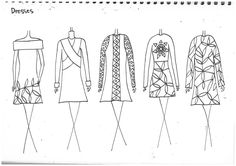 Fashion Sketchbook - fashion sketches; line up development; fashion portfolio // Kitty Lawrence