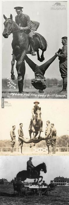 "Apparently, this is how they ""passed the time"" at cavalry school in the 1930's"