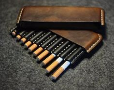 SALE! Leather cigarette case, Christmas gift, Gifts for smokers, Tobacco pouch, cigarette holder, Vintage Leather Cigarette Case