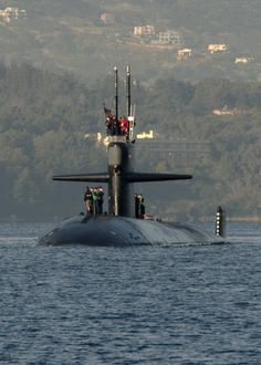 SOUDA BAY, Greece, (Feb, 28, 2016) The Los Angeles-class fast attack submarine USS Newport News (SSN-750) arrives in Souda Bay, Greece Feb. 28, 2016. Newport News, homeported in Norfolk, Va., is conducting naval operations in the U.S. 6th Fleet area of operations in support of U.S. national security interests in Europe and Africa.  (U.S. Navy photo by Heather Judkins/Released)