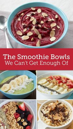 We can't stop making smoothie bowls and for good reason! A refreshing way to start the morning, these customizable bowls are packed with everything from fruit to nuts.