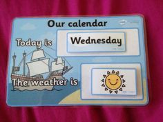 Daily Calendar/Weather Chart - twinkl